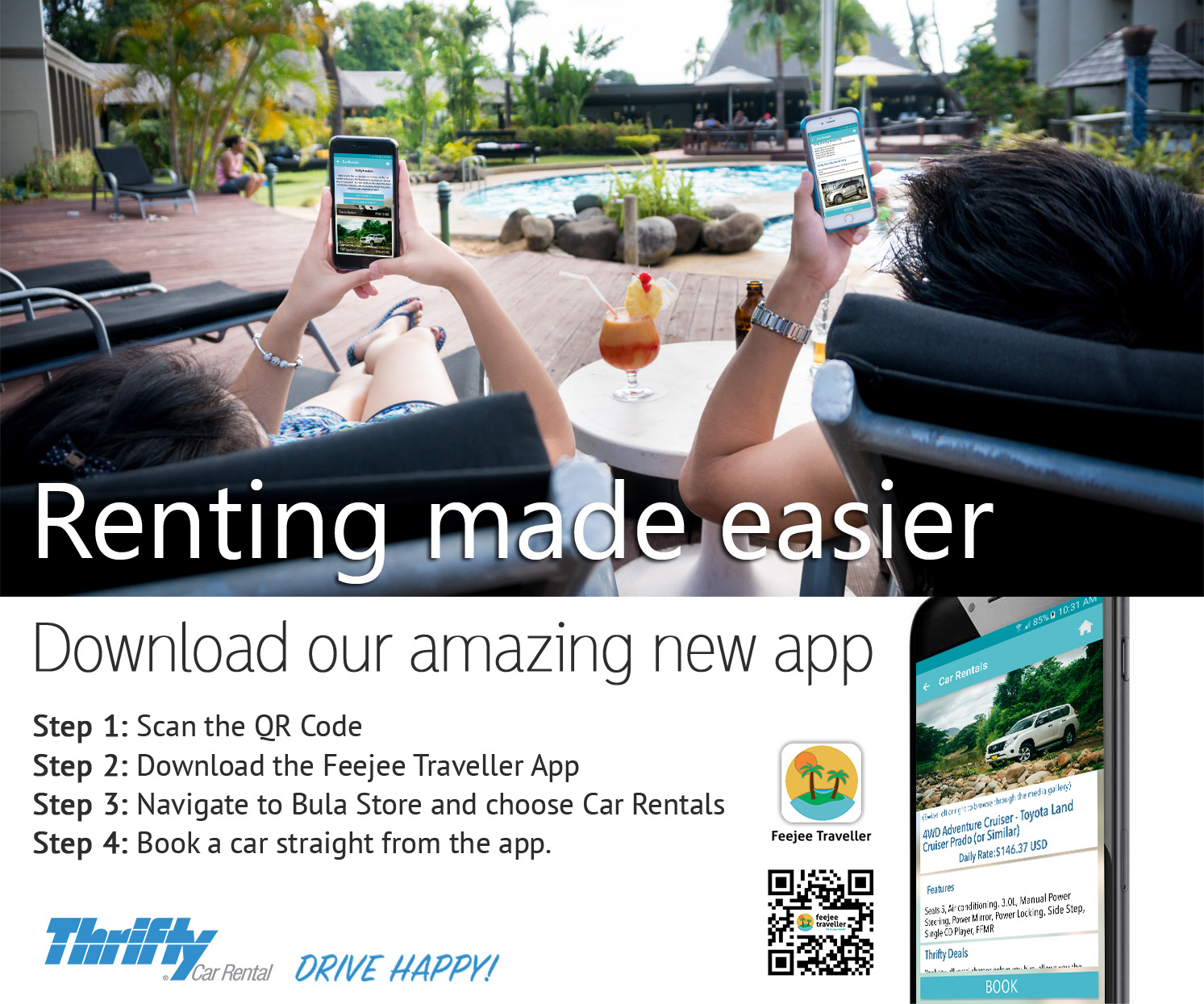 Feejee Traveller App – No 1 Rated car rental company in Fiji by
